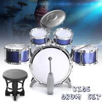 5 PCS Junior Child Starter Complete Drum Set Kit+2 Sticks+Cymbal + Stand + Stool