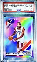 2019-20 Donruss Optic KAWHI LEONARD HOLO Prizm -1st Clipper Optic- PSA 10 🔥🔥🔥