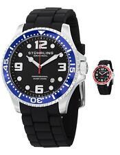 Stuhrling 675 Men's Diver Swiss Quartz Watch with Rubber Interchangeable Strap