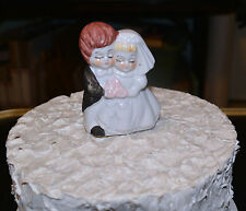"Vintage 3"" Ceramic ""Bride & Groom"" or is it Bride & Bride Cake Topper / Figurine"