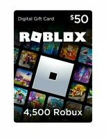 $50 roblox gift card Physical Card Roblox Giftcard