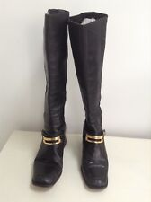 Nouchka Boots Black Leather Knee High Matériau BACK size UK 36/UK 3
