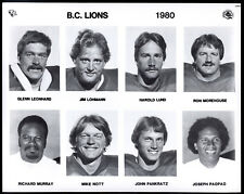 1980 CFL bc lions Team issue Orig 8X10 8 PLAYERS PHOTO Joe Paopao Ron Morehouse
