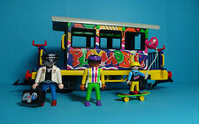 Playmobil RC Eisenbahn / Train ~ Graffiti-Waggon / Wagen (4118) & Anleitung