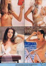 Coupure de presse Clipping 1974 Poster Birkin Alvina Belli  seins nus   52 x 35