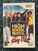 Disney High School Musical Sing It! Video Game Wii Used