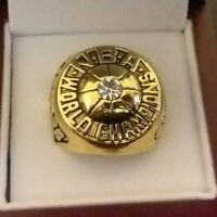 1975 Golden State Warriors NBA Championship Ring Rick Barry 18k GOLD PLATED *USA
