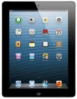 Apple iPad 4th Generation 16GB Black Wi-Fi + Cellular (Fully Unlocked) - Good