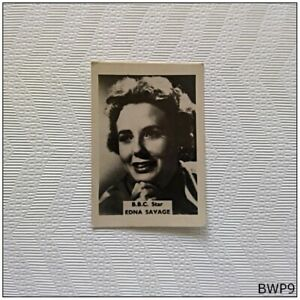B.B.C. Star Edna Savage Small Old Photograph (BWP9)