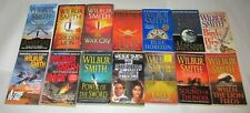 WILBUR SMITH lot of 14 PBs COURTNEY Series WHEN THE LION FEEDS More