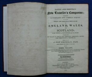 NEW TRAVELLERS COMPANION, antique atlas, 26 MAPS, LAURIE & WHITTLE, 1812