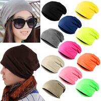 Unisex Women Mens Knitted Winter Warm Oversized Ski Slouch Hat Cap Baggy Beanies