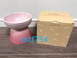 Le Creuset Pet Bowl High Stand For Dog / Cat Natural Pink Microwaveable