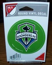 SEATTLE SOUNDERS FC MLS WINCRAFT 3 INCH ROUND DECAL STICKER