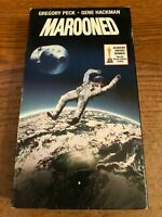 Marooned VHS VCR Tape Movie Gregory Peck Rated G Used