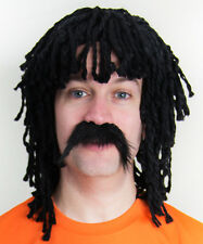 Ruud Gullit Holland Football Fancy Dress Wig & Moustache perfect for Stag Party