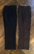 Hart Schaffner Marx Boys 2 Pair Dress Pants Black Brown Size 10