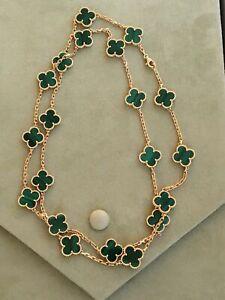 Van Cleef & Arpels Alhambra 18K Malachite 20 Necklace