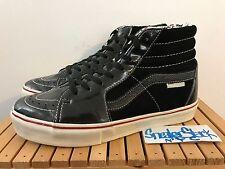 2006 Vintage Vans Vault X Marc Jacobs Sk8-HI LX Black Patent Leather Size 9