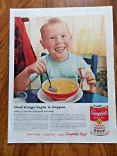 1959 Campbell's Soup Ad  Freckle Face Red Head Boy