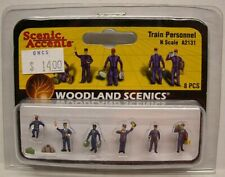 WOODLAND SCENICS, N-Scale Train Personnel Figures, Painted, New in Package