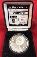 Dan Marino Highland Mint 1oz .999 Silver Coin 2602/7500 Troy Ounce Medallion
