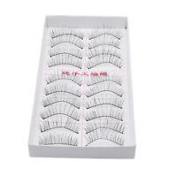 10 Pairs Fiber Mink Eyelashes Upper Lashes Reusable Wispy Thick Messy Lash Shan