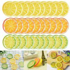 10x Artificial Fake Lemon Slice Fruit Simulation Fake Lemon Slices Home Decor US