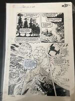 SWAMP THING # 89 THOMAS YEATES ORIGINAL ART.  BEAUTIFUL PAGE