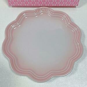 Le Creuset Frill Plate Dish 22cm Shell Pink New Stoneware Japan