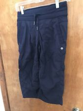 Lululemon Gym yoga Running Pants, 2, Blue, Capri