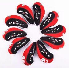 10PCS Black&Red Neoprene Nike Covert 2.0 Golf Club Iron Covers HeadCovers