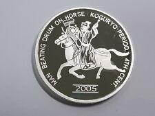 Korea 2005, Man Beating Drum On Horse 20 Won, 40mm, 1oz Silver Proof