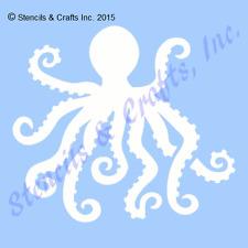 "6.5"" OCTOPUS STENCIL OCEAN STENCILS SEALIFE BEACH ART SEA TEMPLATE TEMPLATES NEW"