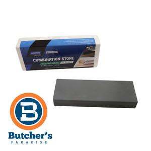 """Butchers 3"""" Oil Combination Quick Sharpening Stone Coarse/Fine Norton Bear KS100"""