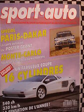 SPORT-AUTO 1989 PARIS DAKAR + CARTE / BMW M3 EVOLUTION / MERCEDES 190 2.5 16S