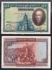 ESPAÑA - 25 PESETAS 1928 CALDERON DE LA BARCA  Pick # 74c   MBC  VF