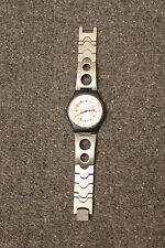 Stainless Slim SWATCH 1999 Wrist Watch Ladies Womens NEW BATTERY WORKS GREAT