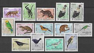 El Salvador 1963 Wildlife Fauna Tiere Dieren Animals Birds compl. set MNH