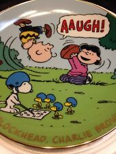 Peanuts Snoopy Danberry Mint Plate Lucy Charlie Brown Football