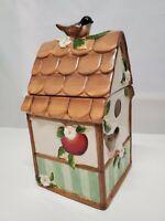 Cookie Jar Bird House Susan Winget Cracker Barrel Apple Collection Apple Blossom