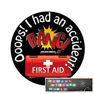 48 Teacher Reward Stickers 30mm Accident First Aid  not personalised