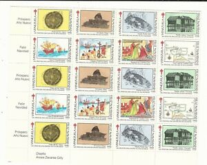 Venezuela: 1992; Cinderella un block of 20 With min. doblez, mont nh. VZ0596