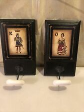 King and Queen Vintage Novelty Hook Hanger for Clothes Hat Robe 12x7�