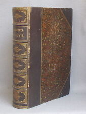Antique LEATHER BOUND ESSAYS OF FRANCIS BACON Whately Heard LARGE PAPER EDITION