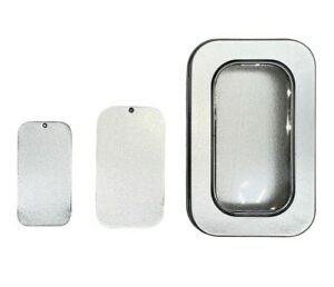 Tinplate Slider Tin Compact Favours Window Gift Lip Balm Container UK Seller A1