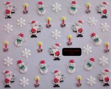 FdF 374 Sticker adesivi in GLITTER x unghie manicure NATALE Christmas nail art