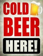 COLD BEER HERE METAL DECORATIVE PARKING SIGN