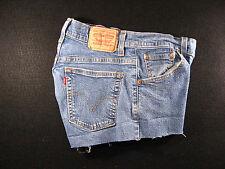 LEVIS Zipper 550 CUTOFF JEAN SHORTS Cut Off 27 Denim Red Tab High Waisted