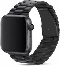 Metal Stainless Steel iWatch Band Strap For Apple Watch Series 3/2/1 42mm-Black